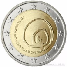 Euros: 2 EUROS CONMEMORATIVA ESLOVENIA 2013 CUEVA POSTJANA SC. Lote 147483790
