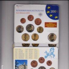 Euros: EUROS - ALEMANIA - SERIE 9 MONEDAS (X5) - EN CARTERA OFICIAL 2009 LETRAS A-D-F-G-J. Lote 67283881