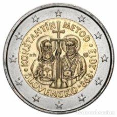 Euro: 2 EUROS CONMEMORATIVA ESLOVAQUIA 2013 . CIRILO Y METODIO . SC. Lote 184017515