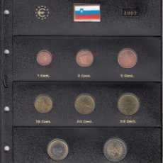 Euros: SERIE COMPLETA EURO ESLOVENIA 2007 - HOJA PARDO. Lote 78458957