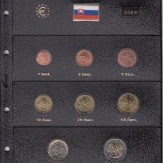 Euros: SERIE COMPLETA EURO ESLOVAQUIA 2009 - HOJA PARDO. Lote 78459001