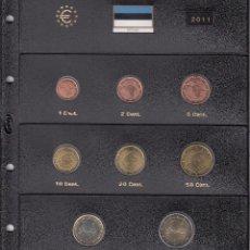 Euros: SERIE COMPLETA EURO ESTONIA 2011 - HOJA PARDO. Lote 78459077