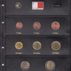 Euros: SERIE COMPLETA EURO MALTA 2008 - HOJA PARDO. Lote 78459137