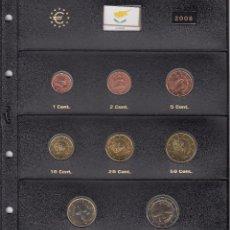 Euros: SERIE COMPLETA EURO CHIPRE 2008 - HOJA PARDO. Lote 78459181