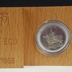 Euros: MONEDA DE PLATA. 1 ECU. ESPAÑA. EUROPA RAPTADA POR ZEUS. ESTUCHE ORIGINAL. 1989. . Lote 79742917