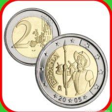 Euros: ESPAÑA MONEDA DE 2 EUROS AÑO 2005 CONMEMORATIVA DON QUIJOTE USADA, COMO NUEVA. Lote 206430275