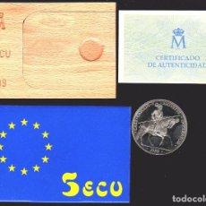 Euros: 5 ECU 1989 CARLOS V FDC. Lote 80846835