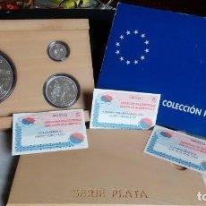 Euros: ESPAÑA ESTUCHE DE MONEDAS HOMENAJE AL EJERCITO, PLATA 1, 5 Y 25 €. Lote 81396364