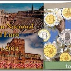 Euros: ESPAÑA 2014. CARTERA, BLISTER, EUROSET AUTONOMÍAS DE EXTREMADURA.. Lote 82908464