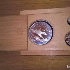 Euros: SERIE PLATA. CINCUENTÍN AVIACIÓN ESPAÑOLA DE 1997 + 5 EURO DE 1998 GUARDIA REAL + HOMENAJE AL ECU. Lote 85919292