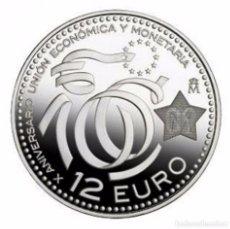 Euros: ESPAÑA 2009. 12 EUROS DE PLATA CONMEMORATIVOS DEL X ANIVERSARIO DE LA EMU. EN SU FUNDA DE PLASTICO. Lote 87080076