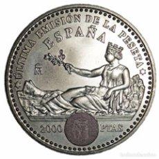 Euros: ESPAÑA 2001. 2000 PESETAS DE PLATA CONMEMORATIVA DE LA ULTIMA EMISION DE LA PESETA. EN SU FUNDA ORIG. Lote 113092071