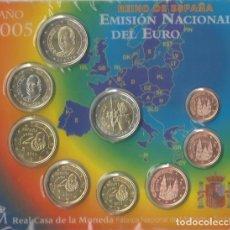 Euros: ESPAÑA 2005 BLISTER 8 MONEDAS MAS 2 € CONMEMORATIVOS. Lote 89513324