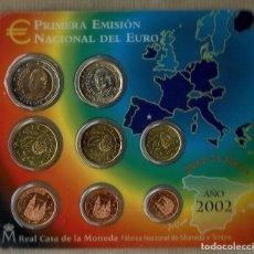 Euros: PRIMERA EMISIÓN NACIONAL DEL EUROS AÑO 2002 / FLOR DE CUÑO. Lote 89610564