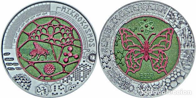 AUSTRIA 2017. MONEDA DE 25 EUROS DE NIOBIO. MICROCOSMOS. (Numismática - España Modernas y Contemporáneas - Ecus y Euros)
