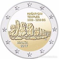 Euros: 2 EURO CONMEMORATIVA MALTA 2017 TEMPLOS HAGAR SC. Lote 188812840
