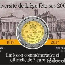Euros: BELGICA 2017. COINCARD DE 2 EUROS CONMEMORATIVA DE LA UNIVERSIDAD DE LIEJA. VERSION FRANCESA. Lote 206300940