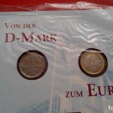 Euros: EDICION CONMEMORATIVA 28.02.2002 DE LA DEUTSCHE POST CORREOS DE ALEMANIA DEL MARCO ALEMAN AL EURO. Lote 93140675