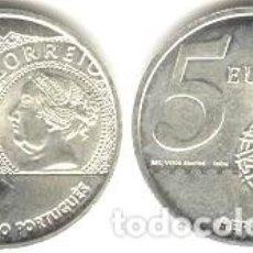 Euros: PORTUGAL - 5 EURO 2003 - KM#749 - S/C - 150 ANIVERSARIO DEL PRIMER SELLO PORTUGUÉS. Lote 93309390