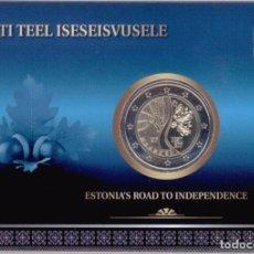 Euros: ESTONIA 2017. COINCARD DE 2 EUROS CONMEMORATIVO DEL CAMINO A LA INDEPENDENCIA. Lote 94197785