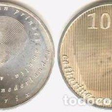 Euros: HOLANDA - 10 EUROS 2004 - KM#248 - NACIMIENTO DE LA PRINCESA CATHARINA-AMALIA. Lote 94209840