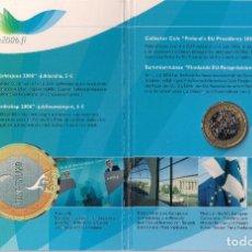 Euros: FINLANDIA - 5 EUROS 2006 - KM#131 - CARTERA PRESIDENCIA DE FINLANDIA DE LA UNIÓN EUROPEA. Lote 94931535