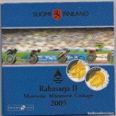Euros: FINLANDIA - CARTERA OFICIAL 2005 - 8 VALORES + 5 EUROS X CAMPEONATO MUNDIAL DE ATLETISMO DE LA IAAF. Lote 94935535