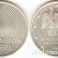 Euros: ALEMANIA - 10 EUROS 2002 J - KM#217 - EXPOSICIÓN DE ARTE DOCUMENTA EN KASSEL. Lote 95348831