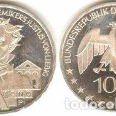 Euros: ALEMANIA - 10 EUROS 2003 J - KM#222 - BICENTENARIO DEL NACIMIENTO DE JUSTUS VON LIEBIG. Lote 95349007