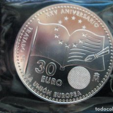 Euros: ESPAÑA - 30 EUROS AÑO 2017 XXV ANIVERSARIO TRATADO UNIÓN EUROPEA (PLATA/AG). Lote 95369563