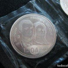 Euros: ESPAÑA - 12 EUROS AÑO 2004 FELIPE Y LETIZIA (PLATA/AG). Lote 95372575