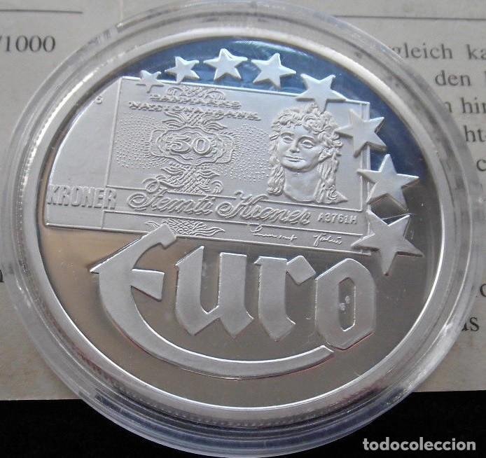 MONEDA 10 EUROS DINAMARCA 1997 EN PLATA MACIZA DE 999/1000 20 GR CALIDAD PROOF CON CERTIFICADO (Numismática - España Modernas y Contemporáneas - Ecus y Euros)