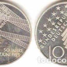 Euros: ALEMANIA - 10 EUROS 2003 A - KM#226 - 50.º ANIVERSARIO DE LA REBELIÓN EN ALEMANIA ORIENTAL. Lote 95548423