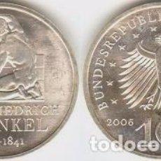 Euros: ALEMANIA - 10 EUROS 2006 F - KM#245 - 250º ANIVERSARIO DEL NACIMIENTO DE KARL FRIEDRICH SCHINKEL. Lote 95654451