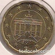 Euros: ALEMANIA - 20 CÉNTIMOS 2007 A - KM#255 . Lote 95656363