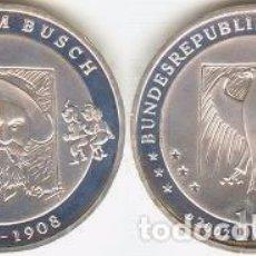 Euros: ALEMANIA - 10 EUROS 2007 D - KM#265 - 175º ANIVERSARIO DEL NACIMIENTO DE WILHELM BUSCH. Lote 95657471