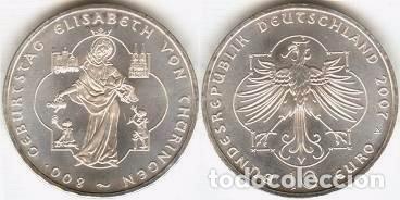 ALEMANIA - 10 EUROS 2007 A - KM#268 - 800º ANIVERSARIO DEL NACIMIENTO DE ELISABETH VON THÜRINGEN (Numismática - España Modernas y Contemporáneas - Ecus y Euros)