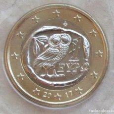 Euros: MONEDA 1 EURO GRECIA 2017 - CALIDAD BU - SACADA DE CARTERA ORIGINAL. Lote 96043855