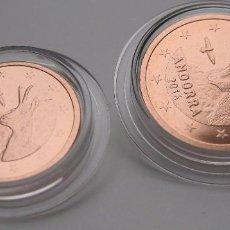 Euros: MONEDAS DE 1 Y 2 CTS ANDORRA 2016 - CALIDAD BU - SACADAS DE CARTERA ORIGINAL- EN CAPSULA. Lote 96044347
