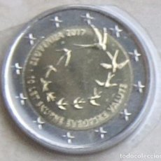Euros: MONEDA 2 EUROS ESLOVENIA 2017 - 10º ANIV INTRODUCCION DEL EURO - SACADA DE CARTERA - CALIDAD BU. Lote 96045867