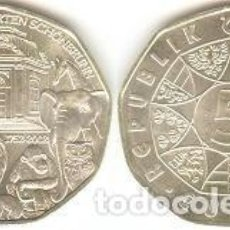 Euros: AUSTRIA - 5 EUROS 2002 - KM#3091 - 250 ANIVERSARIO DEL ZOO DE SCHÖNBRUNN. Lote 96159855