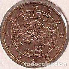 Euros: AUSTRIA - 5 CÉNTIMOS 2003 - KM#3084. Lote 96160431
