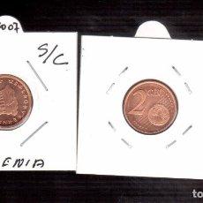 Euros: MONEDAS EUROS SLOVENIA 2007. Lote 96329503