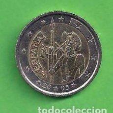Euros: MONEDA - ESPAÑA - 2 EUROS CONMEMORATIVOS - EL QUIJOTE - 2005 - CIRCULADA.. Lote 96695167