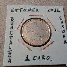 Euros: MONEDA 1 EURO ESTONIA 2011 MBC ENCARTONADA. Lote 96815194