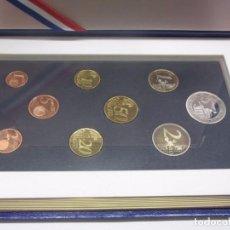 Euros: CONJUNTO DE EUROS DE CURSO LEGAL DE FRANCIA + MONEDA 5 EUROS - 2004 - PROOF - ESTUCHE OFICIAL. Lote 97332443