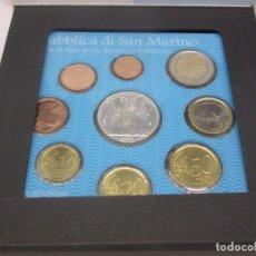 Euros: CONJUNTO DE EUROS DE CURSO LEGAL DE SAN MARINO + MONEDA 5 EUROS - 2003 - FDC- ESTUCHE OFICIAL. Lote 97347131
