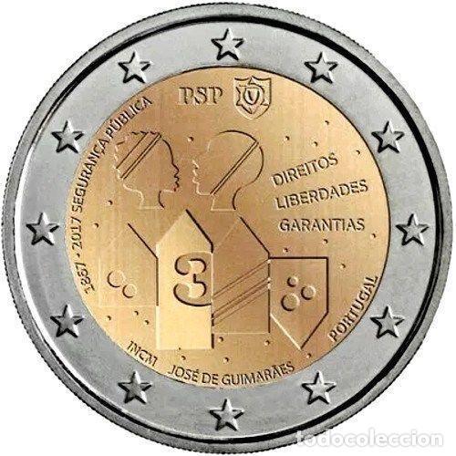 PORTUGAL 2 EUROS 2017 150 AÑOS DE LA POLICÍA DE SEGURIDAD PÚBLICA (Numismática - España Modernas y Contemporáneas - Ecus y Euros)