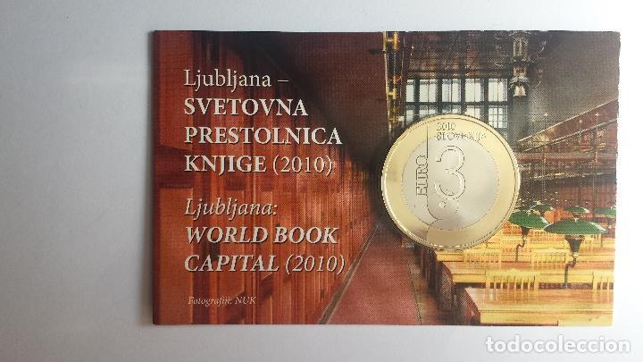 ESLOVENIA 2010 COINCARD OFICIAL. 3 EUROS PROOF (Numismática - España Modernas y Contemporáneas - Ecus y Euros)