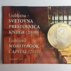 Euros: ESLOVENIA 2010 COINCARD OFICIAL. 3 EUROS PROOF. Lote 52013620